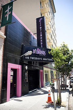 JAKE POEHLS - City Attorney - Dennis Herrera has vowed to shut down the notoriously - violent Pink Diamonds club, which is co-owned by Entertainment Commissioner Terrance Alan