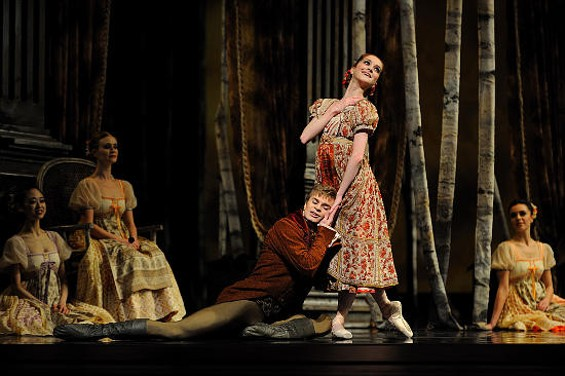 Clara Blanco and Gennadi Nedvigin in Onegin. - ERIK TOMASSON