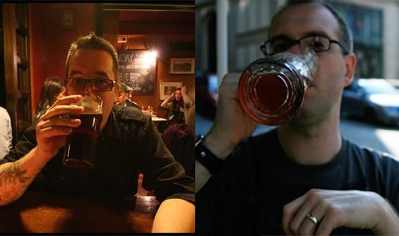 Cleophus Quealy brewers Dan Watson and Peter Baker - JULI FISCHER/MELISSA WATSON