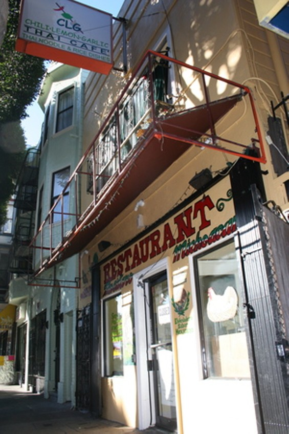 CLG Thai Cafe was evicted so fast they apparently didn't have time to take down its sign. The Mexican restaurant that took its place is now following them out the door. Sounds like it's time for another protest in the Mission. - FRANCISCO BARRADAS