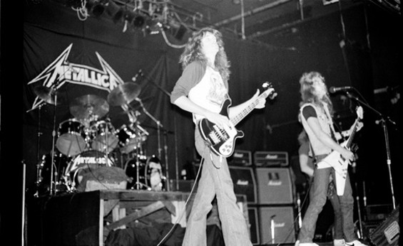 Cliff Burton playing live with Metallica for the first time at the Stone in San Francisco, 1983 - BRIAN LEW