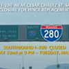 Traffic Alert: I-280 Is Closed All Weekend