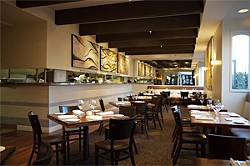 JEN SISKA - Club med:The culinary journey starts with this remodeled dining room.