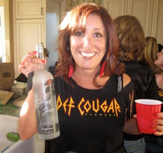 Co-organizer Karin Fox with her Cougar Juice