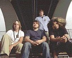 Coheed & Cambria's Claudio - Sanchez (far right) is just like - George Lucas -- but with a bigger - Afro.