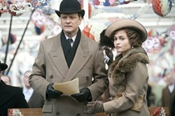 Colin Firth and Helena Bonham Carter help humanize the House of Windsor.