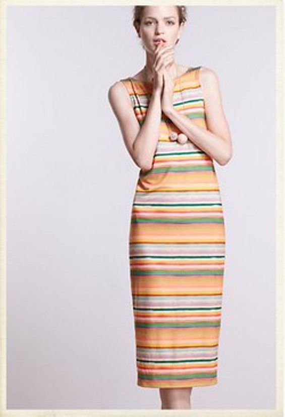 Color Spectrum Midi Dress, $138 at Anthropologie