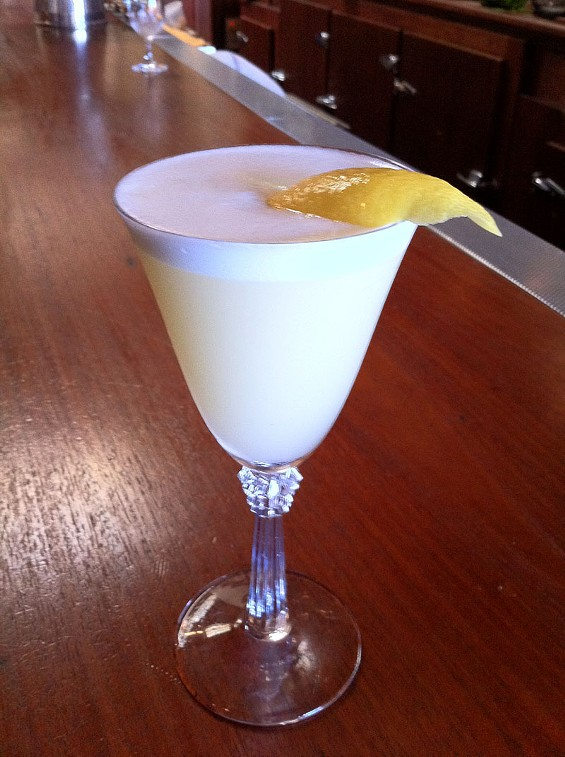Comstock Saloon's Pisco Punch, a cocktail with a lineage. - LOU BUSTAMANTE