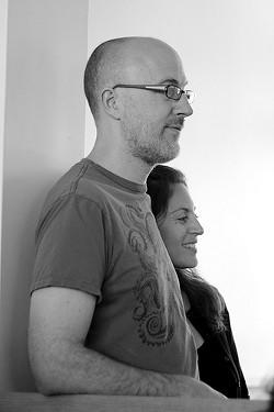Contigo's Brett Emerson (with fiancée Elan Drucker). - THE INADVERTENT GARDENER/FLICKR