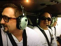 Cosentino and chefs fly over the Grand Canyon. - BRAVO TV