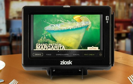 Could you resist the lure of a margarita with marketing like this at your table? - ZIOSK/GOOGLE PLUS