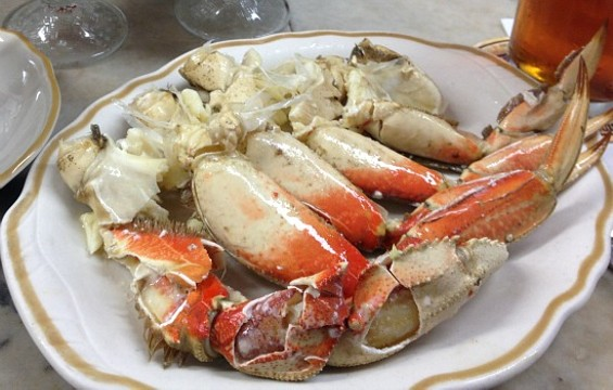 Cracked crab at Swan Oyster Depot. - ANNA ROTH