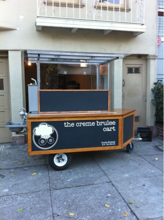 Creme Brulee's new cart has slick signage, and even a hand-washing sink. - CREME BRULEE CART/TWITTER