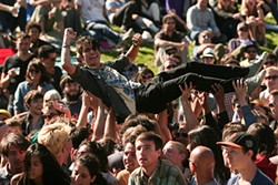 CHRISTOPHER VICTORIO - Crowd-surfing at Phono Del Sol