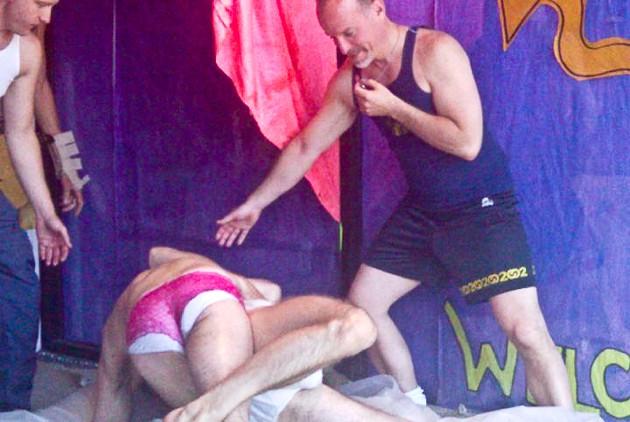 Crude Boys Oil Wrestling in the Castro