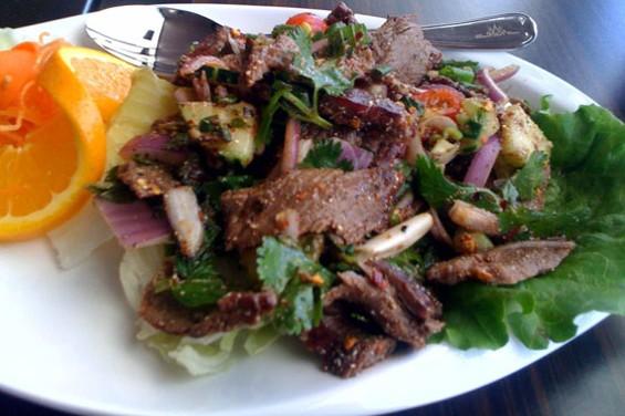 Crying Tiger Salad, medium spicy ($9). - TOMA W./YELP
