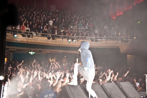 Crystal Castles performing a sold-out show at the Warfield earlier this year.