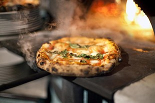 Cult pie: Anthony Mangieri's margherita. - LARA HATA