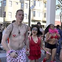 Cupid's Undie Run in the Marina