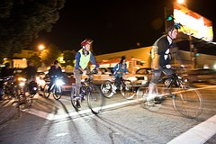 "Cyclists at a past ""Light Up the Night"" - SF BICYCLE COALITION"