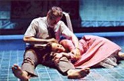 KEN  FRIEDMAN - Daddy Dearest: Eurydice (Maria Dizzia, - right) and her father (Charles Shaw - Robinson) in the Underworld.