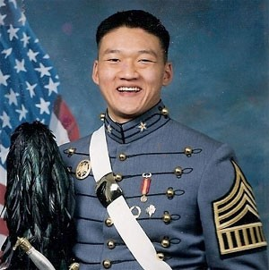 Dan Choi gave away a portion of this uniform -- his ring