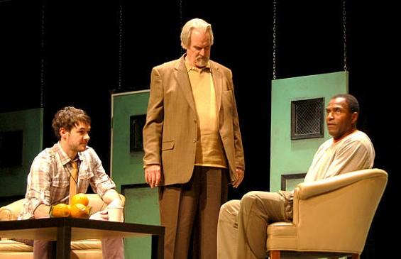 Dan Clegg (left to right), Julian Lopez-Morillas, and Carl Lumbly in Blue/Orange - STEVEN ANTHONY JONES