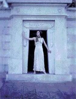 JEFFREY  LINDEMAN - Dancer Jill Randall at the door to - Ghirardelli's tomb.