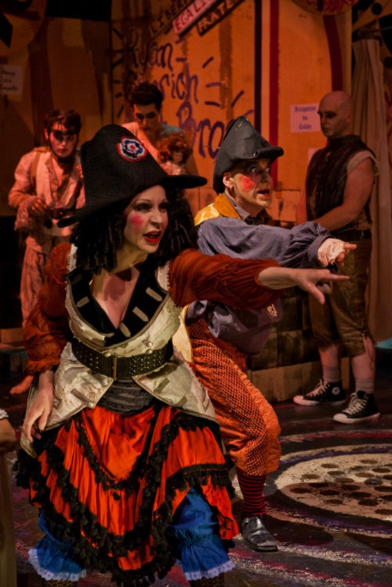 Daniel Nicoletta - CONNIE CHAMPAGNE AND TOM ORR ARE RUNNING THE ASYLUM IN THE THRILLPEDDLERS' PRODUCTION OF MARAT/SADE.
