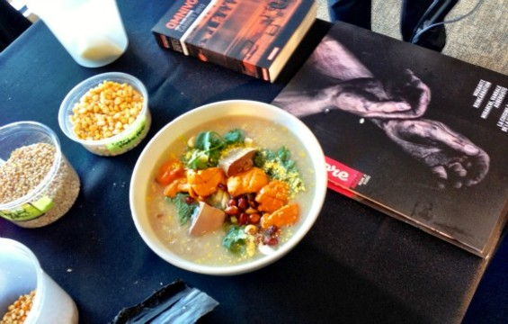 Danny Bowein's porridge at Omnivore SF. - ALEXANDER GEORGE