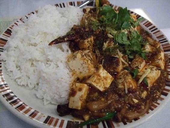 Danny Bowien's ma po tofu is super hot. - TAMARA PALMER