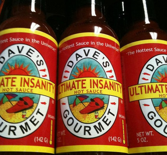 Dave's Ultimate Insanity Hot Sauce: Be afraid. - SCHMEVELY/FLICKR