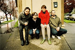 RYAN RUSSELL - Death Cab's Ben Gibbard (second from left).