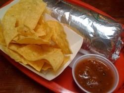 Deluxe steak burrito from La Cumbre. - YELP