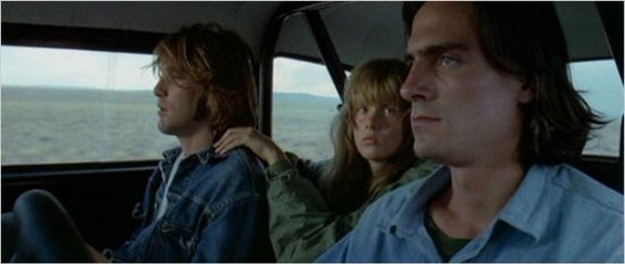 Dennis Wilson, Laurie Bird, and James Taylor in Two-Lane Blacktop