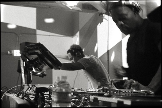Derrick May and Kevin Saunderson at Public Works on Saturday night. - KAHLEY AVALON EMERSON
