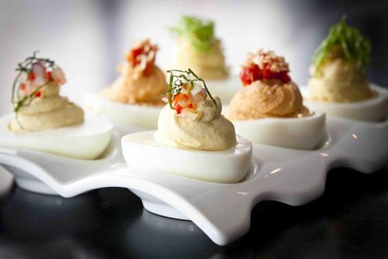 Deviled eggs at Jasper's Corner Tap and Kitchen. - ERIC WOLFINGER