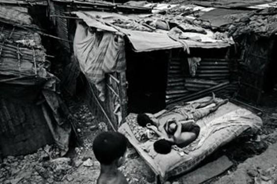 Dhaka, Bangladesh. Factory workers cannot afford housing. - SAURABH DAS