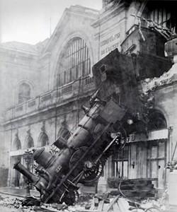 Didja hear there was a train wreck? Didja hear there was a train wreck? Didja? Well, didja?