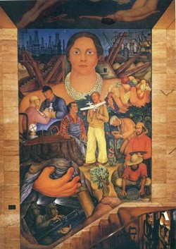 Diego Rivera's first painted fresco in the United States. - JUAN DE ANDA/SF WEEKLY