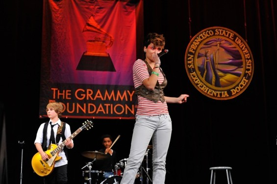 Dillon Ingram (age 13) and Kehlani Parrish (age 15) of Pop Lyfe who gave the closing performance.