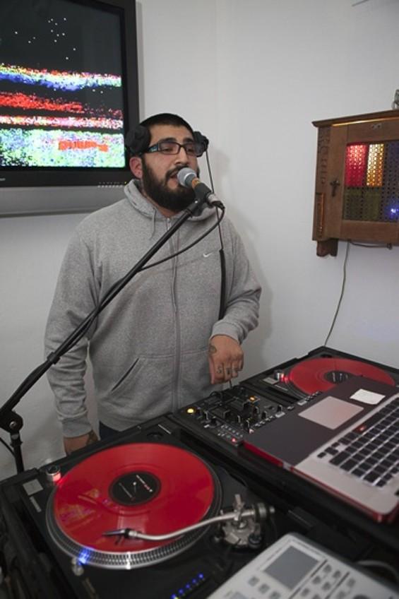 DJ Bad DJ dropping the beats. - JOSEPH SCHELL
