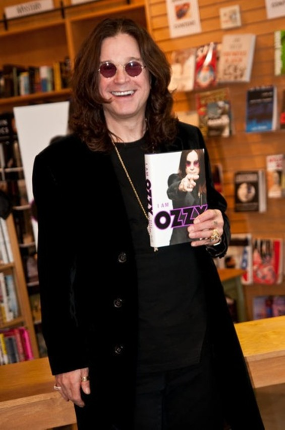 """Do not underestimate the anti-aging powers of bat heads"": Ozzy Osbourne at a book signing in SF - RICHARD HAICK"