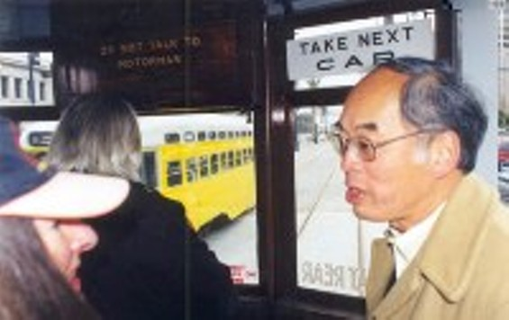 Don Chee aboard his beloved F Line - COURTESY OF EUNICE CHEE