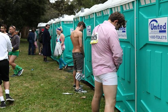 Don't abuse your privileges like these guys, Dolores Park porta-pottie users. - JOSEPH SCHELL