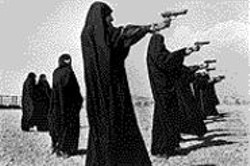 JEAN  GAUMY - Don't mess with Iranian women -- training - outside Tehran.
