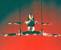 Don't Try This at Home: The performers in Aeros are - trained acrobats and gymnasts.