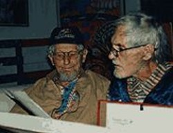 Dr. John Lilly, left, with friend Timothy Leary.