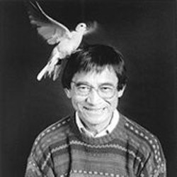 DONG  LIN - Dr. Luis Baptista with Bob the dove.