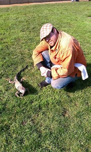 Draco with his owner, Scott Christian - JOE ESKENAZI